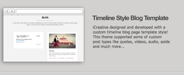 iCreative - OnePage Portfolio WordPress Theme
