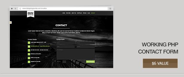 iCreative - OnePage Portfolio HTML5 Template